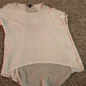 Forever 21 white sheer back shirt